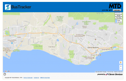 Santa Barbara MTD BusTracker Map Screen Image Clear