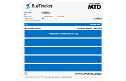 Santa Barbara MTD BusTracker Route Finder Screen Image Clear