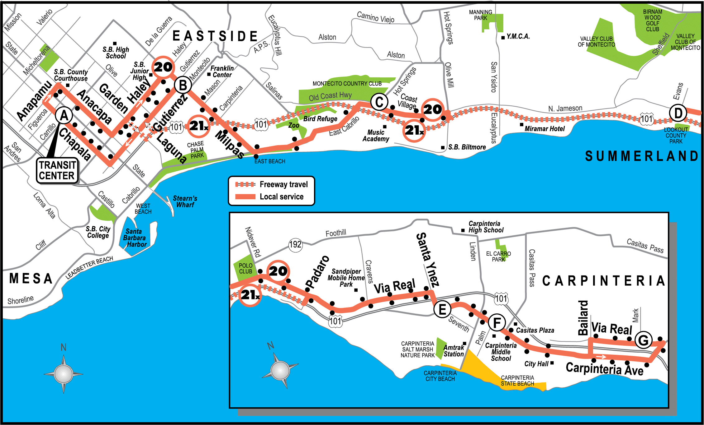 Existing Line 20/21x map