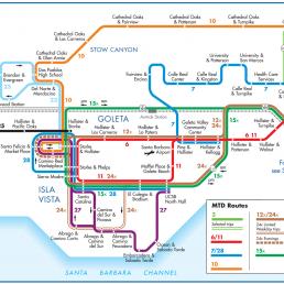 Santa Barbara MTD System Map - Goleta Vista Ellwood Image