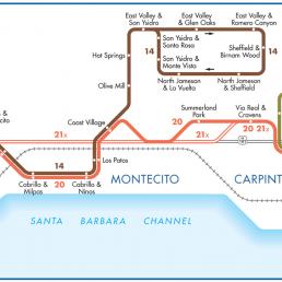 Santa Barbara MTD System Map - Montecito Carpenteria Image