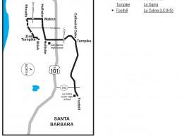 Santa Barbara MTD Booster Services La Colina Junior High Bus Book Pages Thumbnail Image