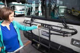 Santa Barbara MTD Bike on Bus Steps Image 1