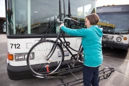 Santa Barbara MTD Bike on Bus Steps Image 2