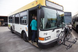 Santa Barbara MTD Bike on Bus Steps Image 4