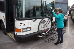 Santa Barbara MTD Bike on Bus Steps Image 5