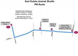 East Goleta Shuttle- PM Route