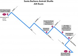 Santa Barbara Shuttle- AM Route