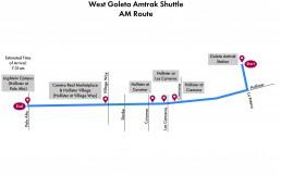 West Goleta Shuttle- AM Route
