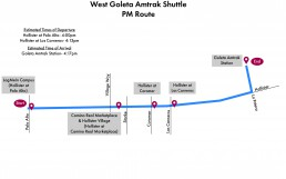 West Goleta Shuttle- PM Route